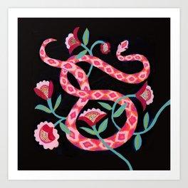 Garden Snake Art Print