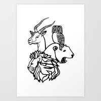Animal Loving Art Print