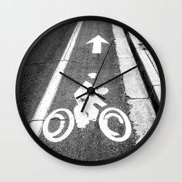 Pavement Biking Wall Clock