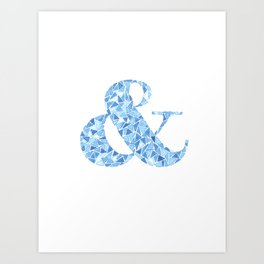 Faceted Ampersand Art Print