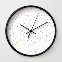 the strokes Wall Clocks featuring Strokes by Aferova