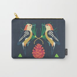 Red-bellied Woodpecker + Red Pine Carry-All Pouch