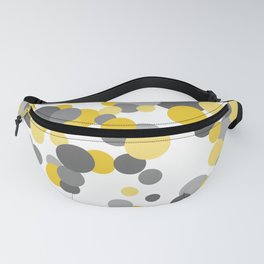Falling Dots - Yellows and Grays Fanny Pack