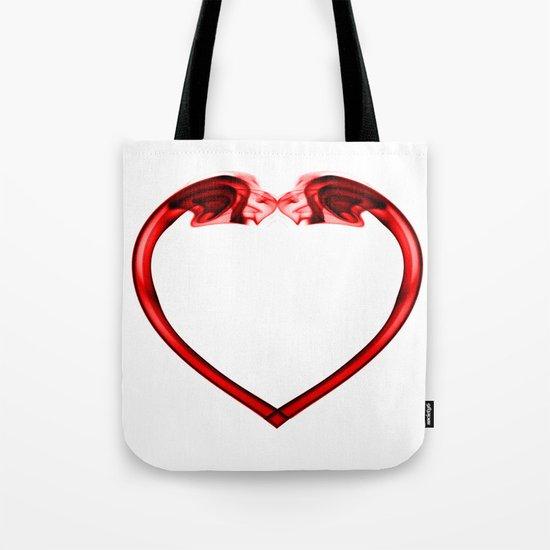 Love Smoke Red 2 Tote Bag