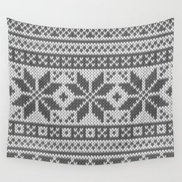 Winter knitted pattern4 Wall Tapestry