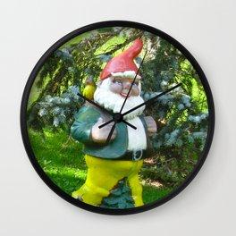 Garden Gnome in Switzerland Wall Clock