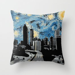 Atlanta Starry Night Throw Pillow