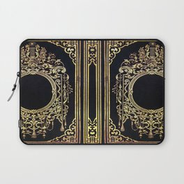 Ornate Gold Frame Book Cover Laptop Sleeve