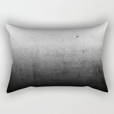 Black Ombre Concrete Texture Rectangular Pillow
