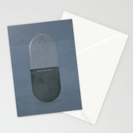 "Aldous Huxley ""Brave New World"" - Minimalist illustration literary design, bookish gift Stationery Cards"