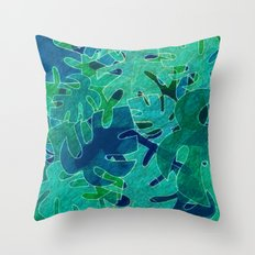 Monstera leaves in Abstract Throw Pillow