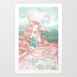The beauty of confinement  Art Print