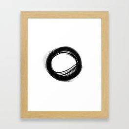 Minimal Circle black and white Framed Art Print