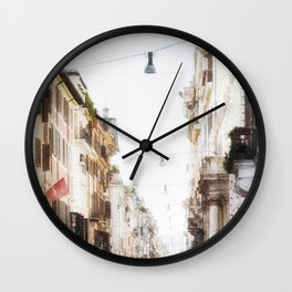 Via Del Corso, Rome, Italy Wall Clock