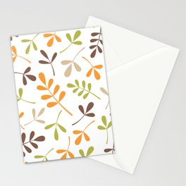 Assorted Leaf Silhouettes Retro Colors Stationery Cards