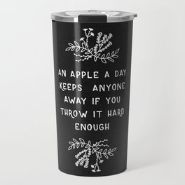 An Apple A Day BW Travel Mug