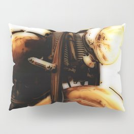 Motorcycle-Sepia-Poster Pillow Sham