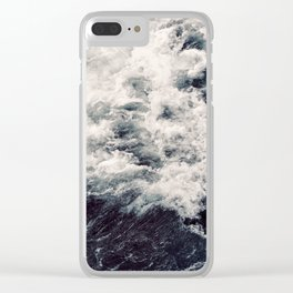 Rush of Waves Clear iPhone Case
