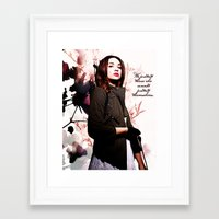 code Framed Art Prints featuring Code by Amy Mancini