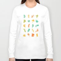 cities Long Sleeve T-shirts featuring Pop Cities by Nicksman