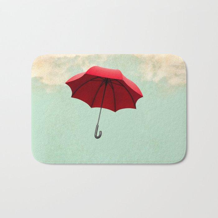 Red Umbrella Bath Mat