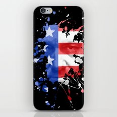 Frank Underwood  |  House Of Cards  |  Red, White & Blue Blood Spatter iPhone & iPod Skin