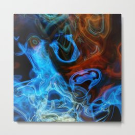 Blue smoke background Metal Print