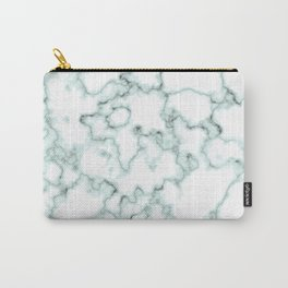 Marble Texture Pattern Green 043 Carry-All Pouch