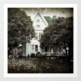 Haunted Hauntings Series - House Number 3 Art Print