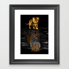 Cute Little Baby Hobbes tiger cat iPhone 4 4s 5 5s 5c, ipod, ipad, pillow case and tshirt Framed Art Print