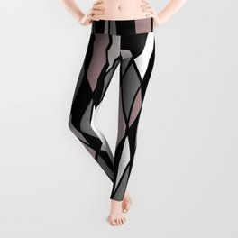 Abstract Mosaic (Pink, Grey, White) Leggings