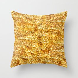 Gold Glittering Gold Throw Pillow