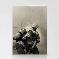 foo fighters Stationery Cards featuring Fire Fighters by Jacqueline Clark