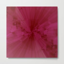 Shattered in Magenta Metal Print