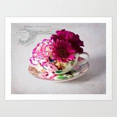 Shabby chic floral Art Print