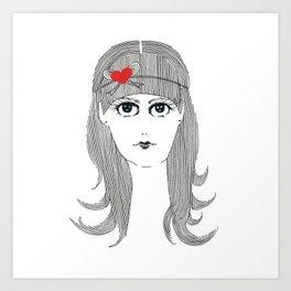 Ribbon Hair Art Print
