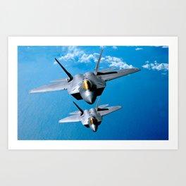 Lockheed Martin F-22 Raptor Art Print
