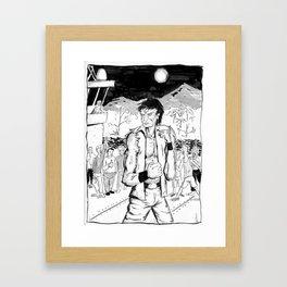 King Denim Framed Art Print