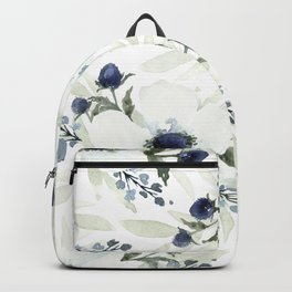 Watercolor Anemone and Thistle Backpack