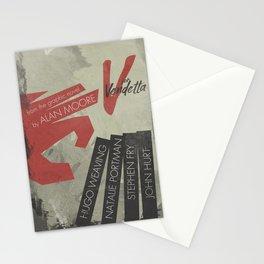 V fo r vendetta, minimal movie poster, Natalie Portman, Stephen Fry, film based on the graphic n Stationery Cards