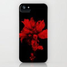 Flower in Black&Red iPhone (5, 5s) Slim Case