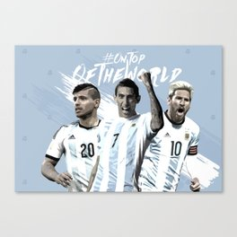 Argentina National Team Poster 2016 Canvas Print