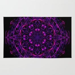 Dark Violet Mandala Rug