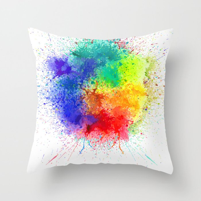 Festival of Colors Throw Pillow