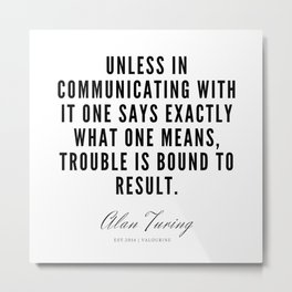 31  | Alan Turing Quotes  | 190716 | Metal Print