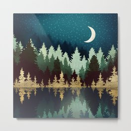 Star Forest Reflection Metal Print