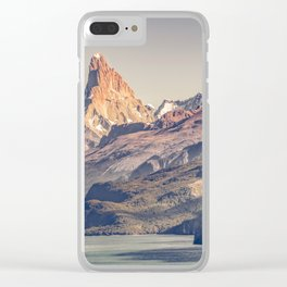 Fitz Roy and Poincenot Andes Mountains - Patagonia - Argentina Clear iPhone Case