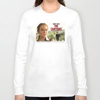 """lindsay lohan Long Sleeve T-shirts featuring Lindsay Lohan """"The Canyons"""" Retro Film Poster by Eric Terino"""