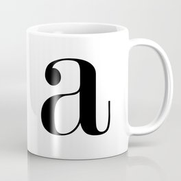 """Monogram Series Letter """"a""""  Coffee Mug"""