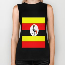 Flag of Uganda Biker Tank
